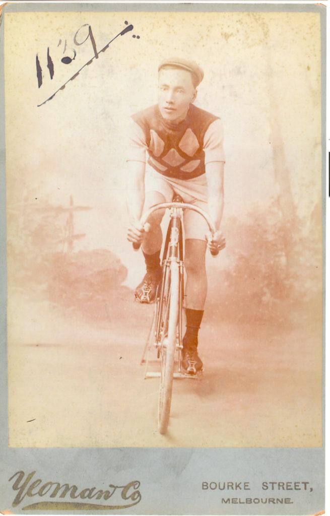 Man on bicycle